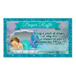 Mermaid Baby Shower Diaper Raffle Tickets #130 Pack Of Standard Business Cards