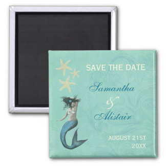 Mermaid Beach Coastal Save The Date Magnet