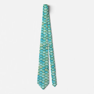 Mermaid Beach Fish Scales Wedding Necktie