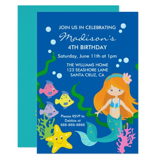 Mermaid Birthday | Down By The Sea Card