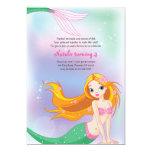 "Mermaid Birthday Invitation Card 5"" X 7"" Invitation Card"