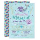 Mermaid Birthday Invitation, Mermaid Invite
