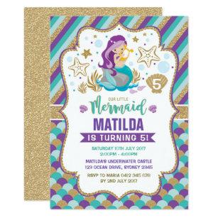 Under the sea invitations announcements zazzle mermaid birthday invitation under the sea party filmwisefo