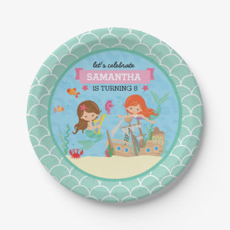 Mermaid Birthday Party 7 Inch Paper Plate