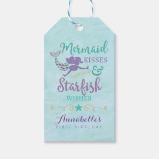 Mermaid Birthday Party Gift Favor Tags