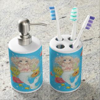 Mermaid (blue) bathroom set