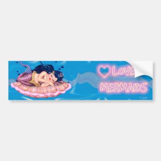 MERMAID BLUE CUTE Bumper Sticker