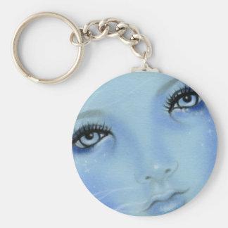 Mermaid Blue Eyes Keychain