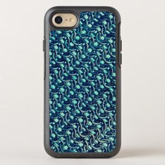 Mermaid Blue Green Chain Mail Metallic Under Sea OtterBox Symmetry iPhone 7 Case