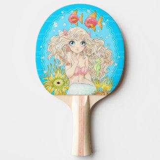 Mermaid (blue) ping pong paddle