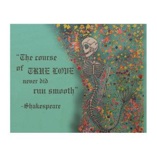 Mermaid Bones & Quote - Wood Pl Wood Canvas