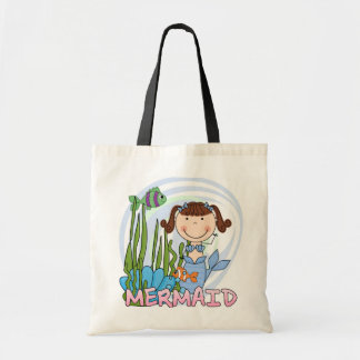 Mermaid - Brunette Tshirts and Gifts Budget Tote Bag