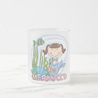 Mermaid - Brunette Tshirts and Gifts Frosted Glass Mug