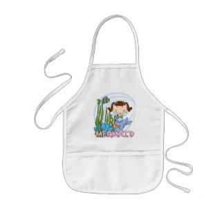 Mermaid - Brunette Tshirts and Gifts Kids Apron