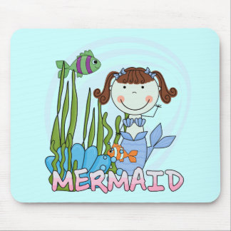 Mermaid - Brunette Tshirts and Gifts Mouse Pad