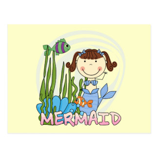 Mermaid - Brunette Tshirts and Gifts Postcard