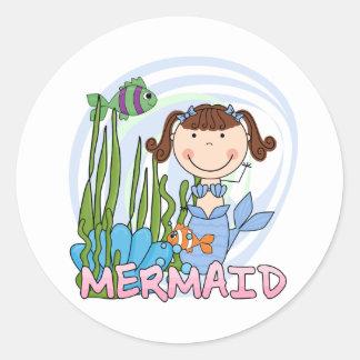 Mermaid - Brunette Tshirts and Gifts Round Sticker