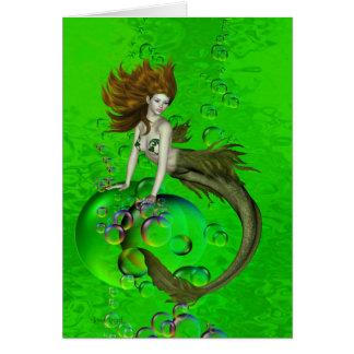 Mermaid Bubbles Card