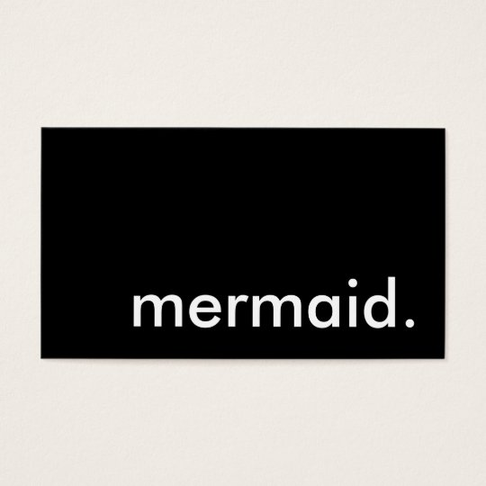 mermaid. business card