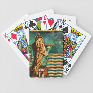 Mermaid by the Sea with Moon and Stars Bicycle Playing Cards