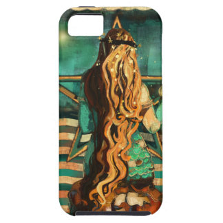 Mermaid by the Sea with Moon and Stars iPhone 5 Case
