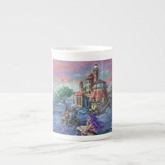Mermaid Castle Bone China Mug