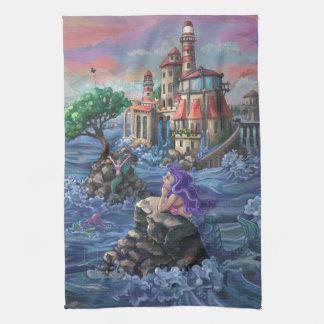 Mermaid Castle Tea Towel