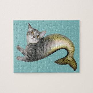 Mermaid Cat Jigsaw Puzzle