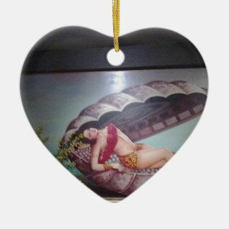 Mermaid Ceramic Heart Decoration