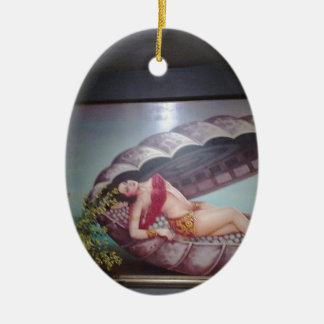Mermaid Ceramic Oval Decoration
