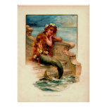 mermaid child poster