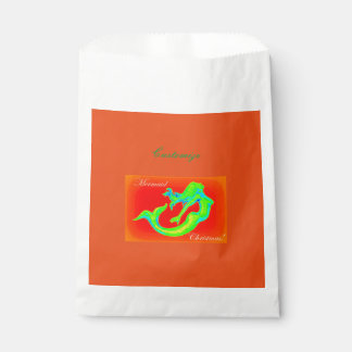mermaid christmas red favour bags