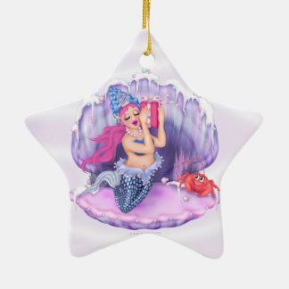 MERMAID Christmas Star Ornament 2