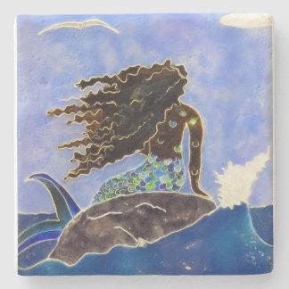 Mermaid Coaster Stone Beverage Coaster