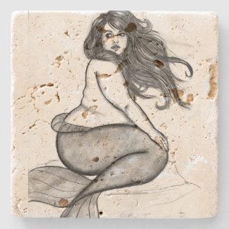 Mermaid Coster Stone Beverage Coaster