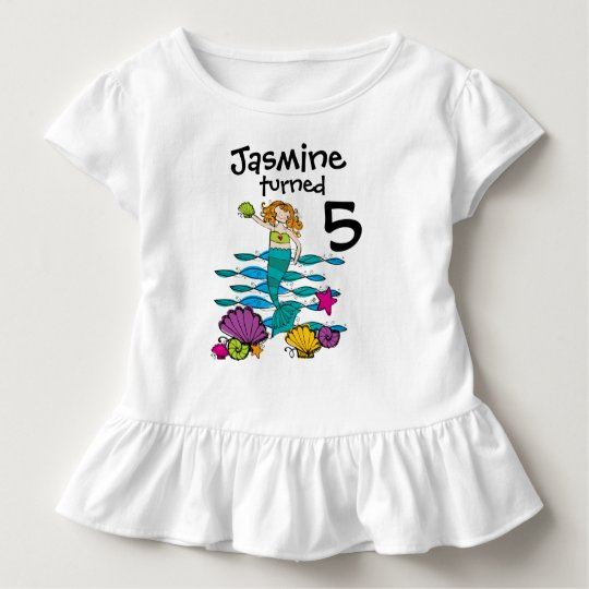 Mermaid Customisable Birthday T-shirt