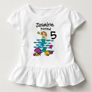 Mermaid Customizable Birthday T-shirt