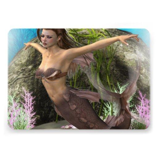 Mermaid Diva Personalized Announcements