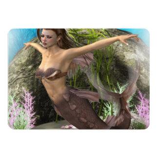Mermaid Diva 5x7 Paper Invitation Card