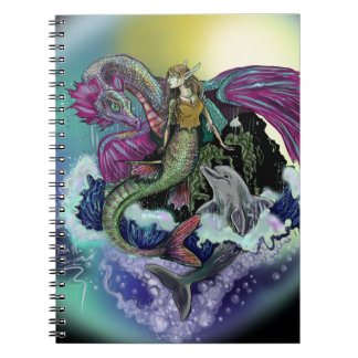 Mermaid & Dolphin~ notebook