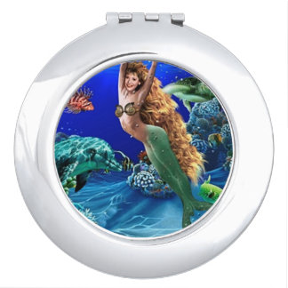 Mermaid, Dolphin, Turtle and Fish Compact Mirrors