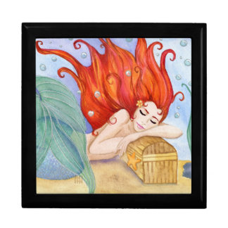 Mermaid Dreams Square Keepsake Box