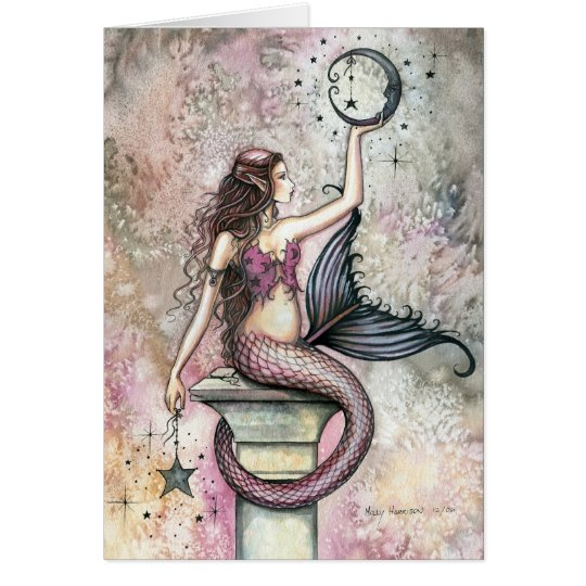 Mermaid Fantasy Art Card by Molly Harrison