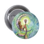 Mermaid Fantasy Fairy Art by  Molly Harrison 6 Cm Round Badge