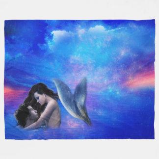 Mermaid Fantasy Fleece Blanket