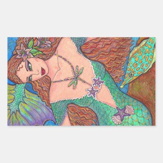 "Mermaid Fantasy ""The Dragonfly Necklace"" Art"