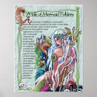 Mermaid Folklore POSTER Posters