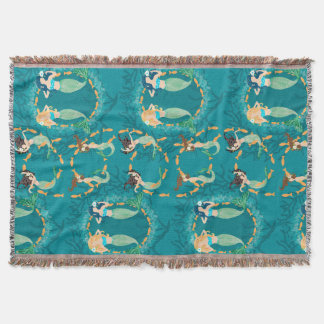Mermaid Folly Throw Blanket