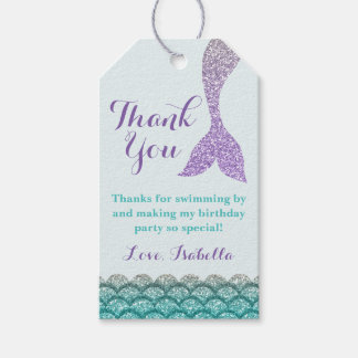Mermaid Gift Tags - Under the Sea Favor Tags