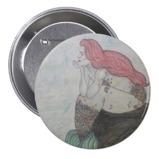 Mermaid Hair 7.5 Cm Round Badge